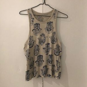 Chaser printed tank top size small